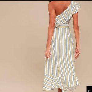Striped off the shoulder M Lulus dress